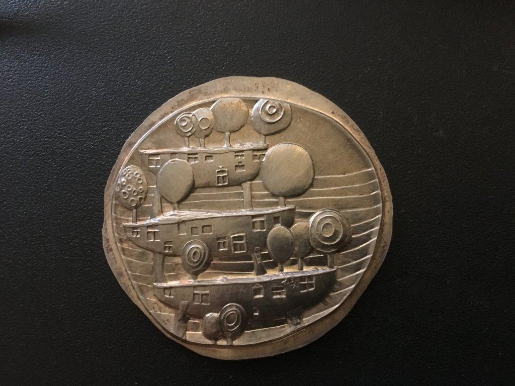 Hundertwasser Hängende Gärten 1978 Silver Objekt Rene Bernhard